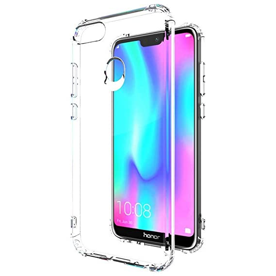 hot sale online 48db8 476e1 Amazon Brand - Solimo Mobile Cover (Soft & Flexible Back case) for Honor 9N  (Transparent)