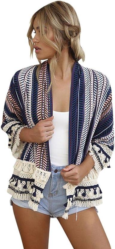 DEELIN CáRdigan Flojo del Kimono del Chal Flojo De Las Mujeres ...