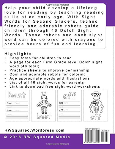 Workbook free phonics worksheets : Amazon.com: Sight Words for Second Graders - Coloring Book and ...