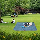 Aoolife Beach Blanket,Foldable Outdoor Waterproof Travel Bag and Multifunction picnic Mat in one ,perfect for the Beach,Camping, traveling, Picnic or Outdoor Activity (Grey)