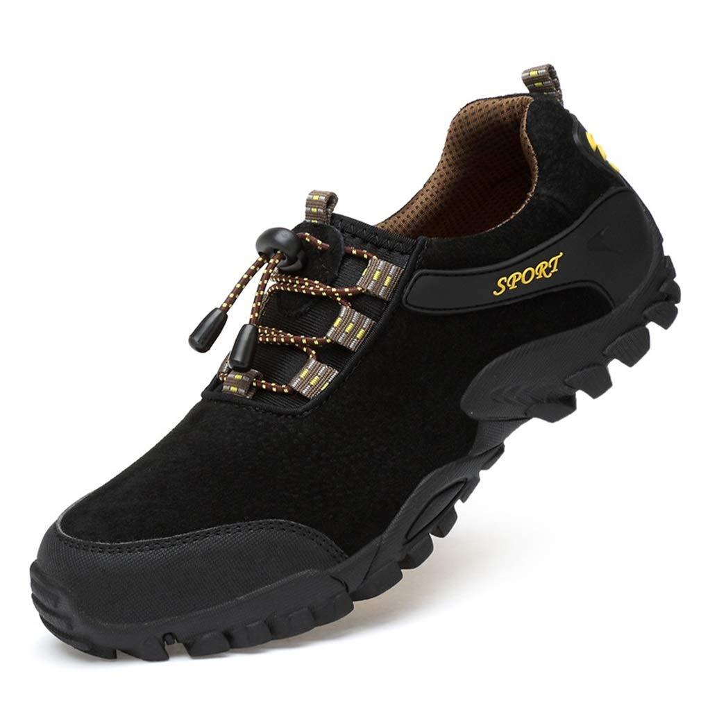 YAN  Herren Schuhe, 2018 Leichte Schuhe, Mesh-Futter Schuhe, Gummi-Zwischensohle, Heel & Toe Stoßfänger - Für Wandern, Wandern, Reisen für den Herbst (Farbe : B, Größe : 43)