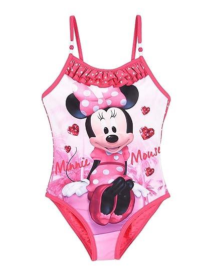 Chaussures de skate grande sélection faire les courses pour Minnie Maillot de Bain 1 pièce Enfant Fille Rose foncé de 3 ...