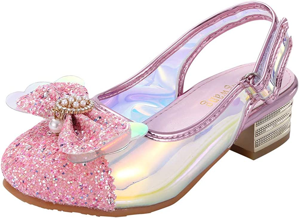 Girls Sandals Pink Flower Girl Wedding