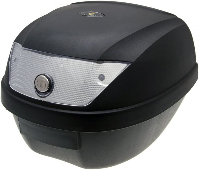 Art-Land Moto Top Case Malet/ín Negro 28L//Reflector wei/à/ÿ con Soporte Universal para Roller