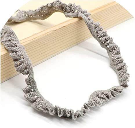 Cinta elástica de encaje de 20 mm de algodón para hacer lazos para ...