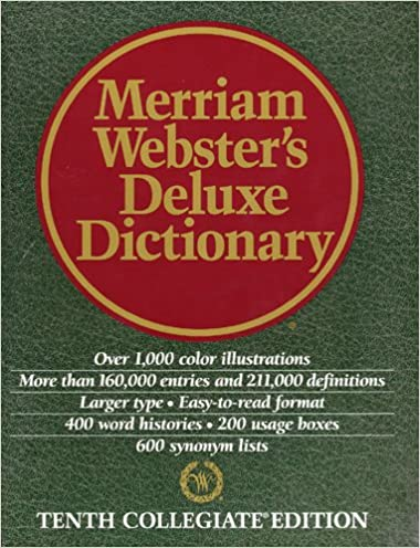 merriam webster s deluxe dictionary tenth collegiate edition merriam webster s deluxe dictionary tenth collegiate edition merriam webster author 9780762100828 com books