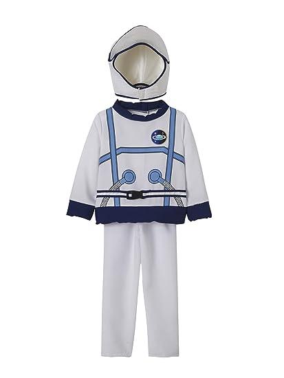 VERTBAUDET Disfraz de Astronauta Blanco Medio Liso con Motivos 7 ...