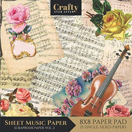 - Sheet Music Paper Scrapbook Paper: Vintage Music Print Design 8x8 Single-Sided for Crafts Card Making Origami Scrapbooking Paper Pad 15 Sheets Vol.2 (Decorative Craft Paper)