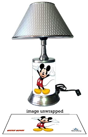 Js mickey mouse lamp with chrome shade amazon js mickey mouse lamp with chrome shade aloadofball Gallery