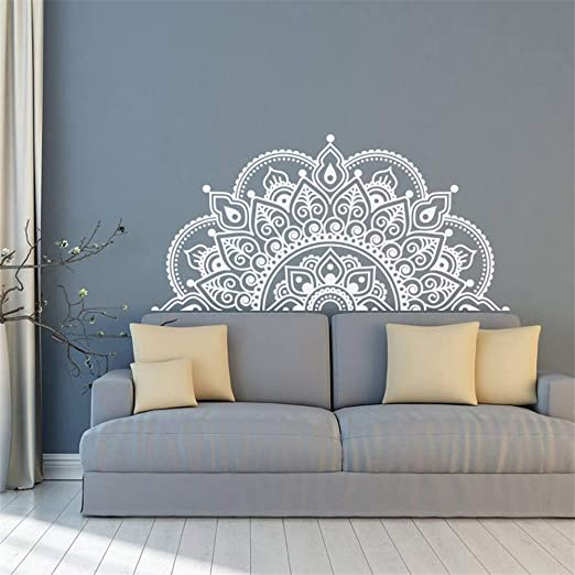 pegatinas de pared Vinilo Media Mandala Amante de la Yoga ...