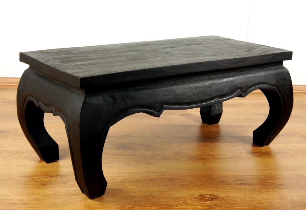 Opiumtisch, Couchtisch aus Massivholz, Sofatisch der Marke Asia Wohnstudio, Massivholztisch aus Thailand (schwarz)