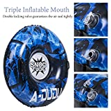 Snow Tube - Super Big 47 Inch Inflatable Snow Sled with Rapid Valves - Heavy Duty Inflatable Snow Tube Made by Thickening Material of 0.6mm - Free Waterproof Carrying Bag[Kids&Adults]