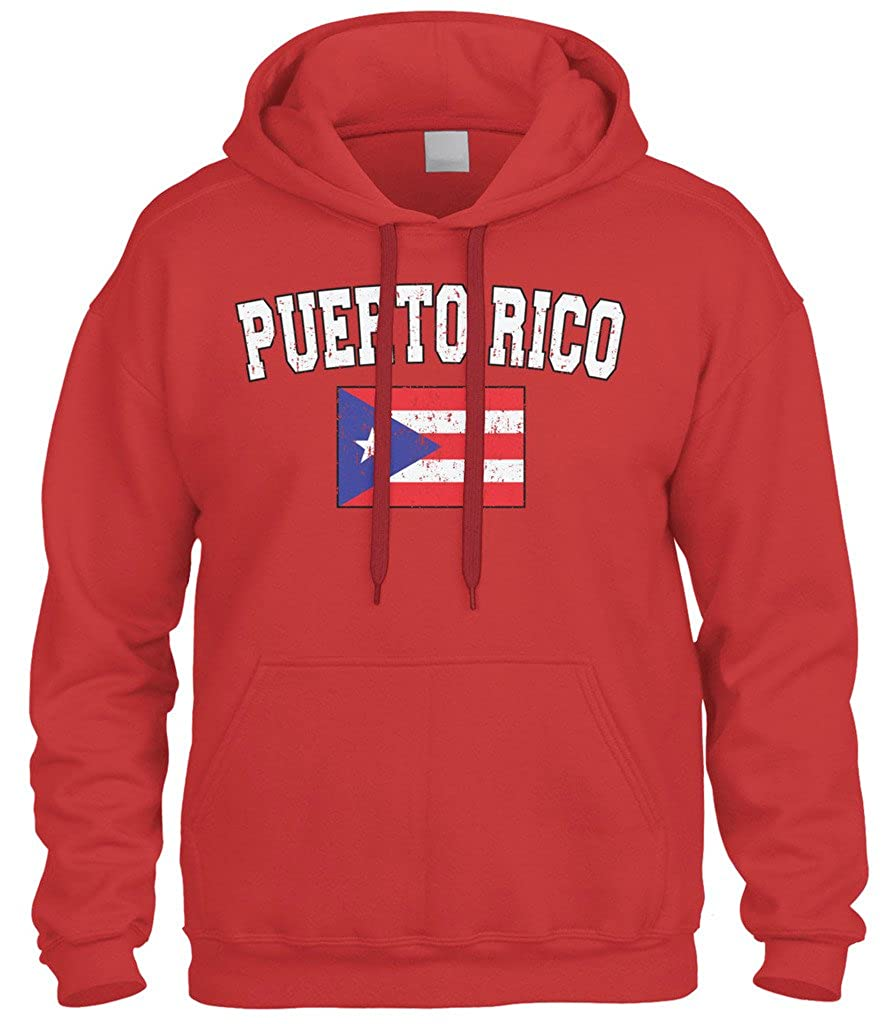c2f5d03f3c Amazon.com  Cybertela Faded Distressed Puerto Rico Flag Sweatshirt Hoodie  Hoody  Clothing