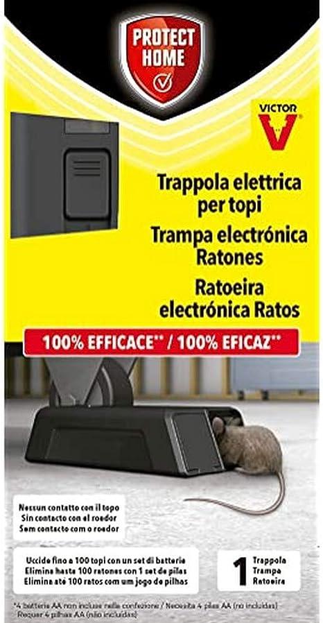 PROTECT HOME Victor Trappola elettrica Topi Nero