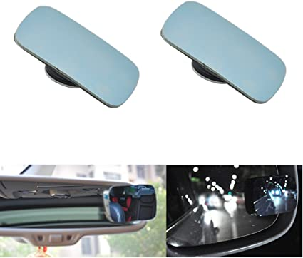 Black Wide Angle Rear Mirrors Car Blind Spot Square Side View Flat Mirror left