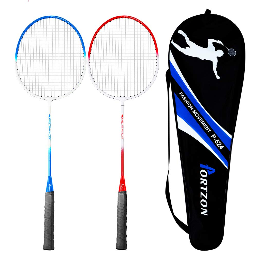 for Both Offensive and Defensive Players Good for All Levels Zuijiangnan Technology Private Label Premium Iron Alloy Frame Nylon Cable Oval Frame Indoor//Outdoor Professional Badminton Racket Set with Carrying Bag