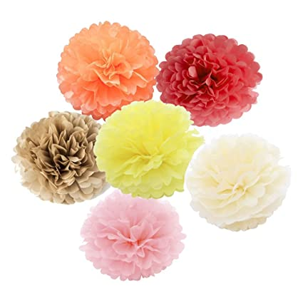 Amazon x sunshine outdoor indoor 12pcs 10 12 pom poms tissue x sunshine outdoor indoor 12pcs 10quot 12quot pom poms tissue paper flowers ball mightylinksfo