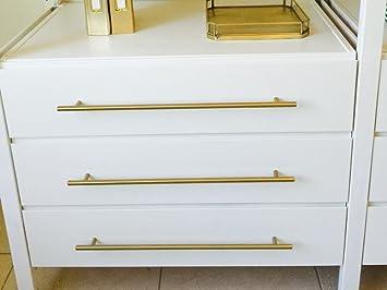 Brass Drawer Pull- Brushed Brass Modern Furniture Drawer Handle ...