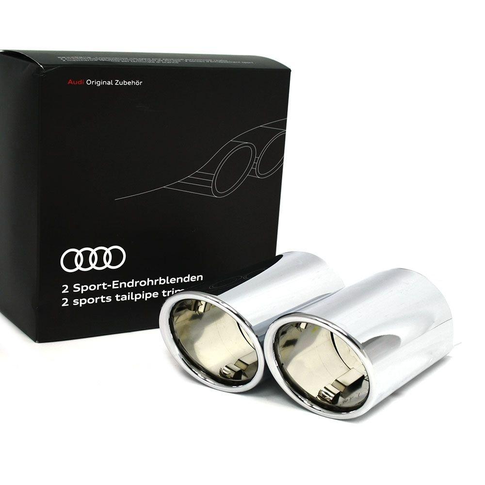 Original Audi Q2 Sport Endrohrblenden Chrom 2-flutig links Auspuffblenden 81A071761 Audi Original Zubehör