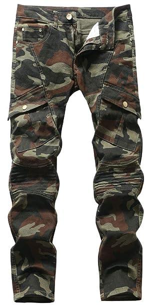 Amazon.com: Plaid&Plain - Pantalones vaqueros ajustados para ...
