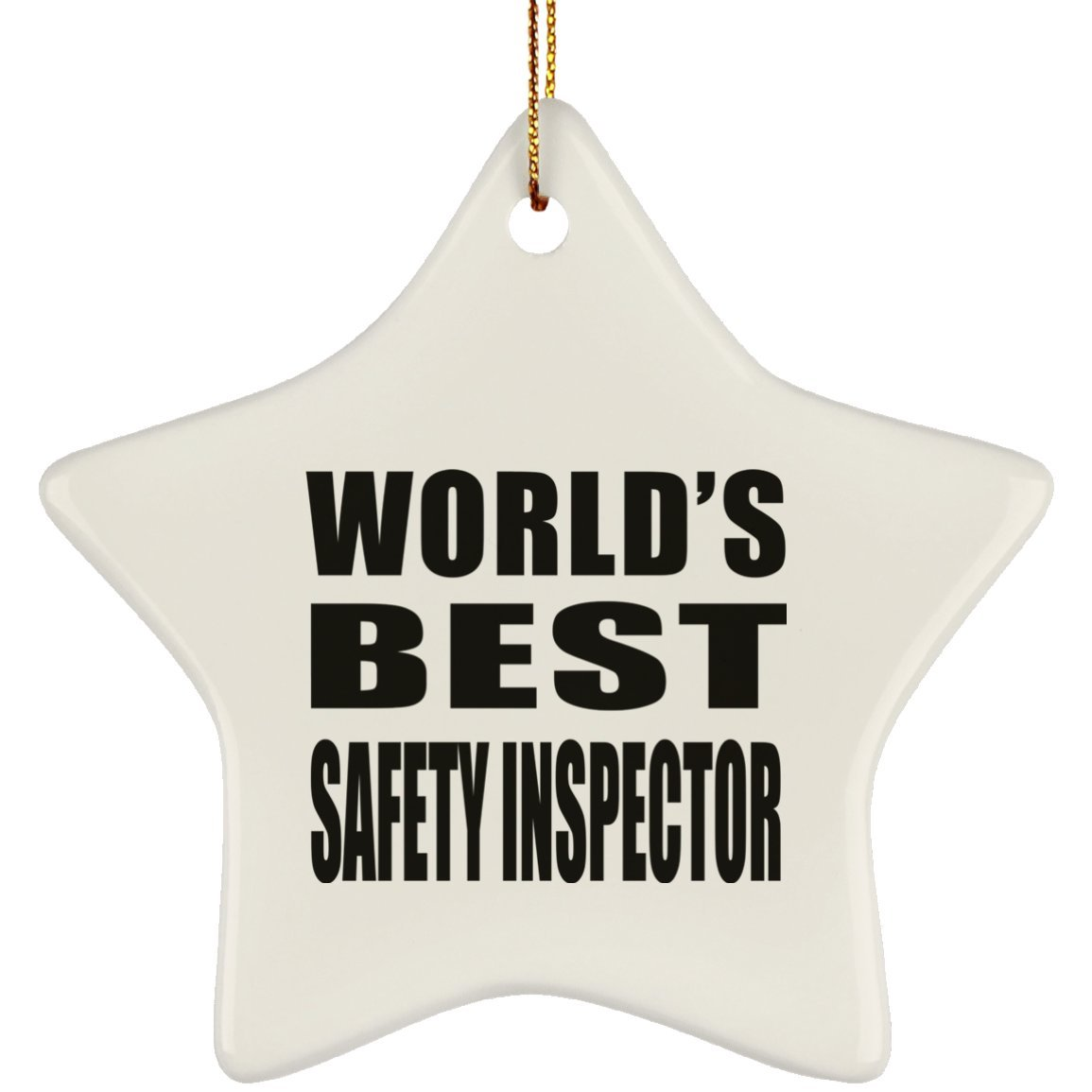 Amazon.com: Designsify World\'s Best Safety Inspector - Ceramic Star ...