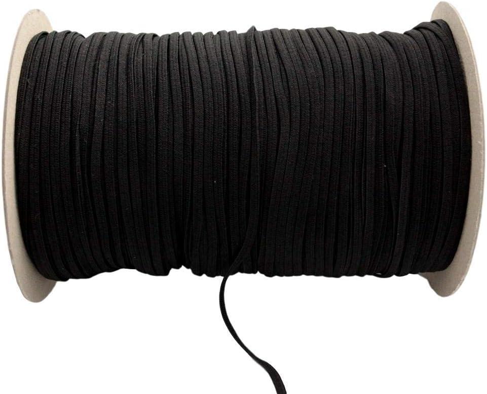Christa-B/änder Gummiband 5mm waschbar 20m lang schwarz