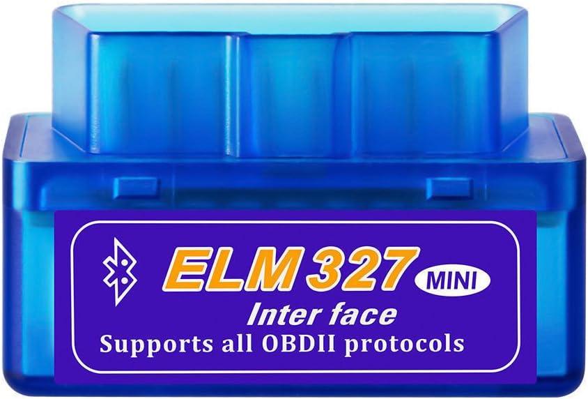 Dasaita Mini ELM327 escáner Bluetooth OBD2 OBD II Herramienta de diagnóstico Lector de código ELM 327 V2.1 OBD 2 Adaptador para Android/Symbian