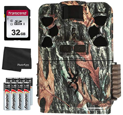 Browning Recon Force Patriot Dual Full HD Trail Camera - BTC-Patriot-FHD + 32GB SD Card + 8 AA Batteries and Lens Cleaning Cloth