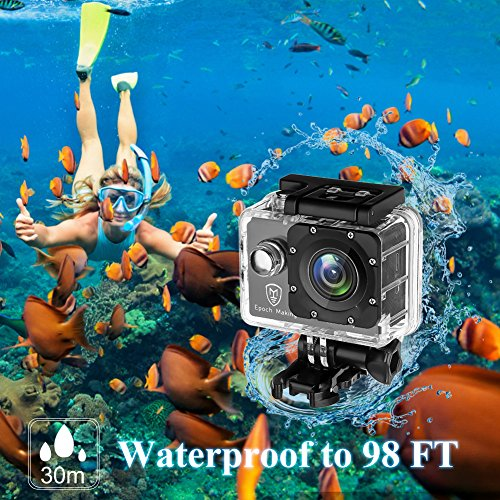 Epoch Making Action Camera, 4K Ultra HD WIFI Waterproof Sports Action Camera With 2-INCH LCD For Racing,Riding,Motorcycle,Surfing,Diving,Snorkeling,and More Water Sports by Epoch Making (Image #2)