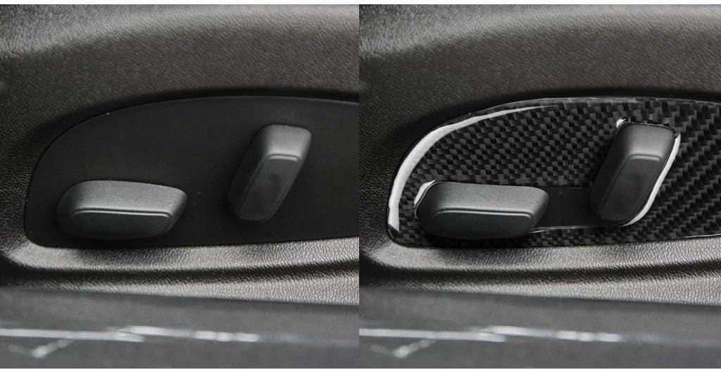 GUOLIANG Innenaufkleber aus Kohlefaser Real Carbon Fiber Autoteile Sitzverstellung Tafel Versch/önerungs Aufkleber Auto-Innen Modification Zubeh/ör 2017-2019 Geeignet for Chevrolet Camaro