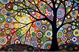 Jollylife Art - 5D DIY Full Square Drills Diamond Painting Kits, Colorful Dream Tree, Embroidery Crystal Rhinestone Cross Stitch Arts Craft Supply for Home Wall Decor Gift 40x30cm (Colorful Tree)
