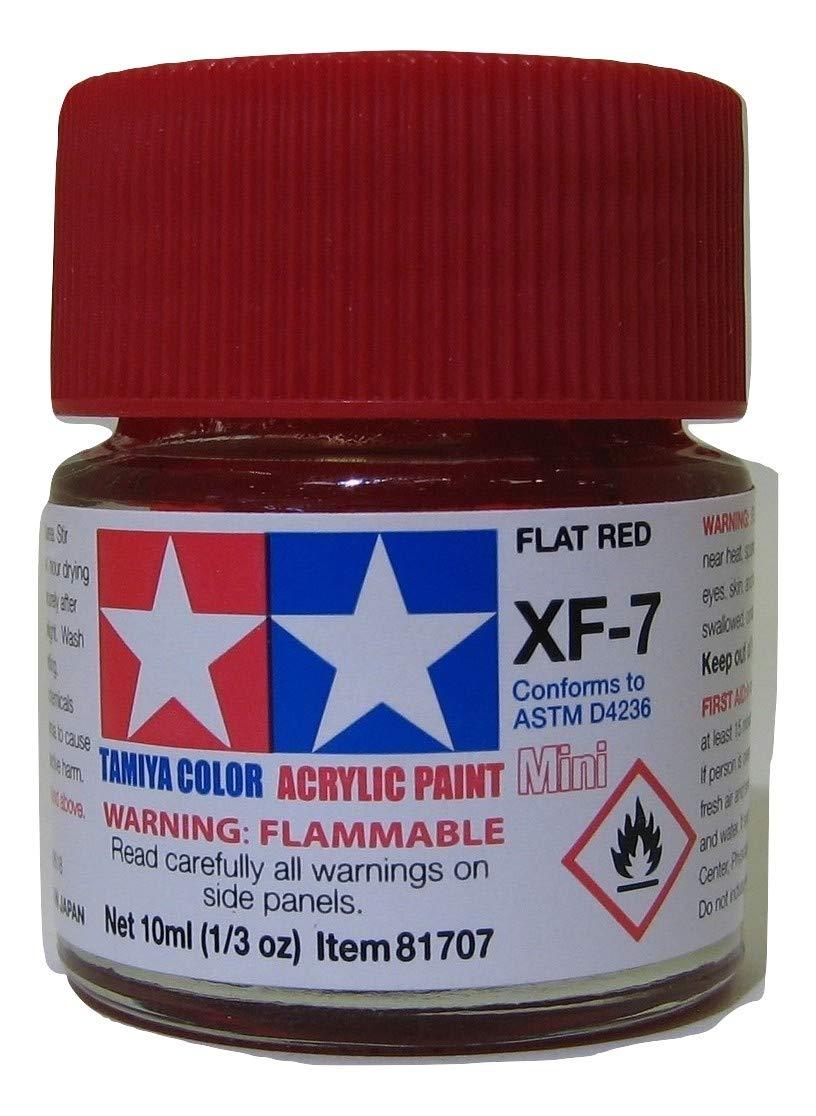 TAMXF7 81707 Acrylic Mini XF7 Flat Red 1/3 oz