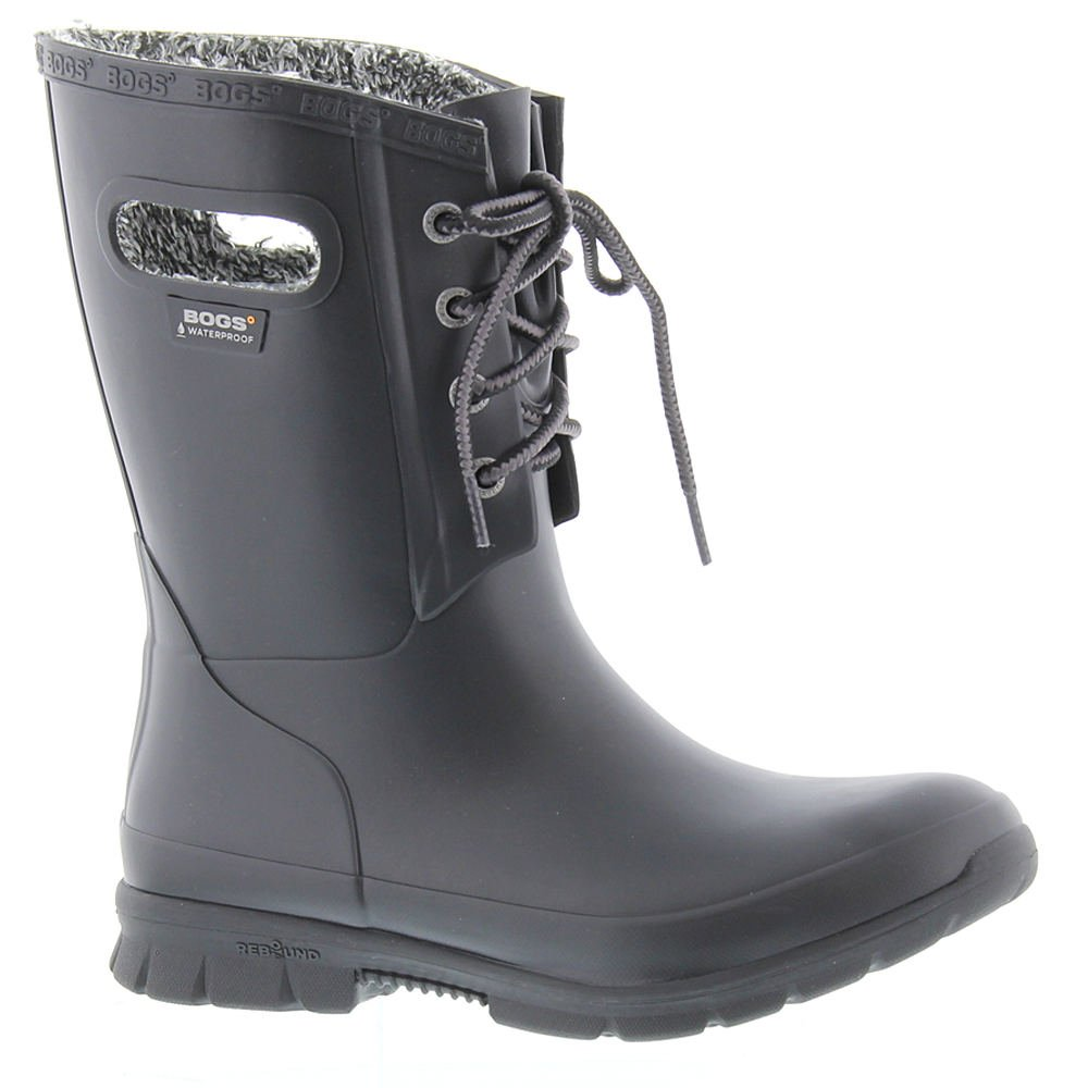 Bogs Women's Amanda Plush Snow Boot, Black, 10 M US