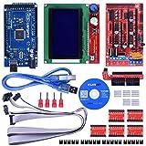 kuman K17 Arduino 3D Printer Controller Kit Mega 2560 R3 +Ramps 1.4 + 5pcs A4988 Stepper Motor Driver
