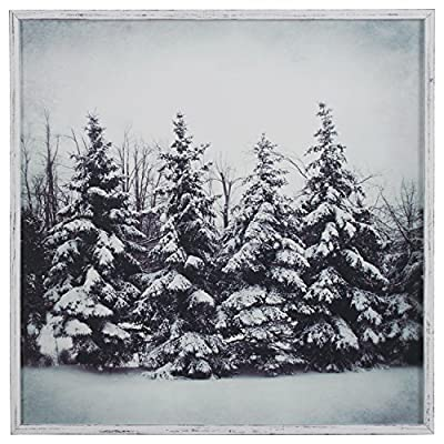 Modern Black and White Print of Forest Snow -  - wall-art, living-room-decor, living-room - 61O4xOzCaAL. SS400  -