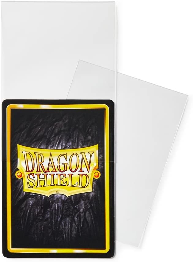 100 Count Clear Inner Card Sleeves Dragon Shield Standard Size Classic Art Sleeves 100 Count Street Fighter Ryu