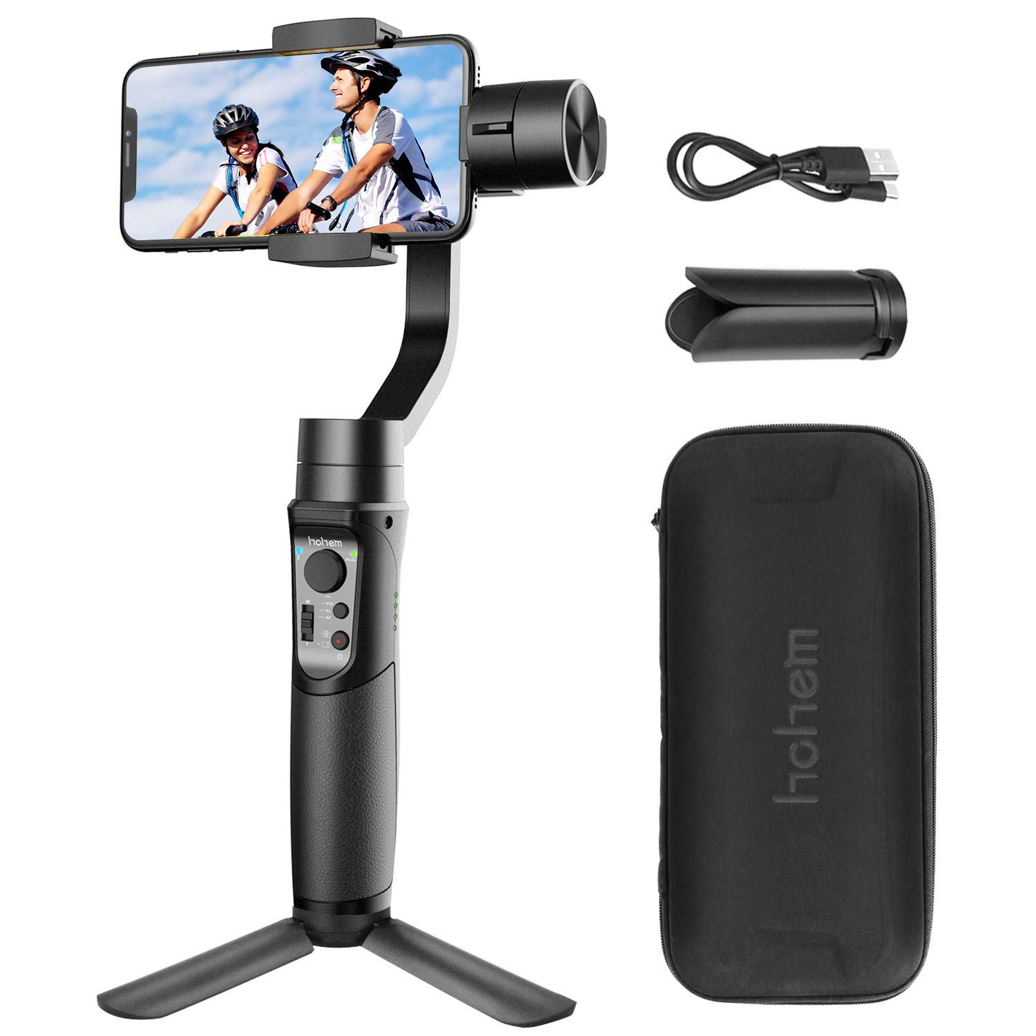 Hohem Gimbal iSteady Mobile 3-Axis Handheld Stabilizer for Smartphone, for iPhone XR/XS MAX/X/8/8P, for Android, Time Lapse, Auto Tracking (Hohem stabilizers)