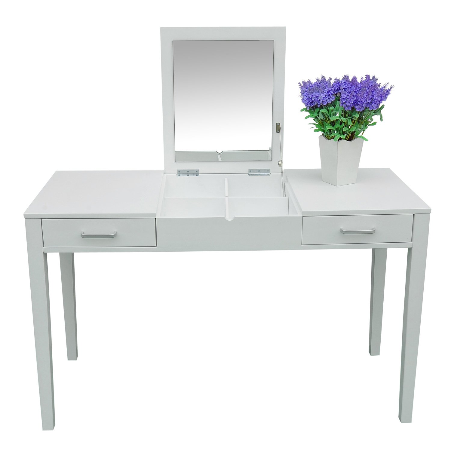 Makeup Table Furniture To Go Shaker Dressing Table Desk 3 Drawers White With