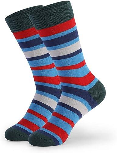 JAZ6 5 pares de calcetines largos para hombre en el tubo de ...
