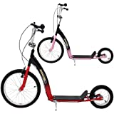 Push Scooter Kick Bike Big Wheel Metal Boys Girls Scooter Kids Adult Roller Adjustable