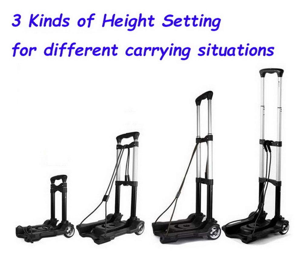 Portable Folding Hand Truck Dolly Utility Cart Foldable Trolley put in Backpack Push Luggage Flatbed Cart by nice--buy (Image #6)