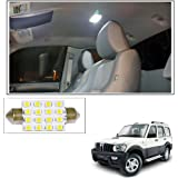Vheelocityin 16 SMD LED Roof Light White Dome Light for Mahindra Scorpio