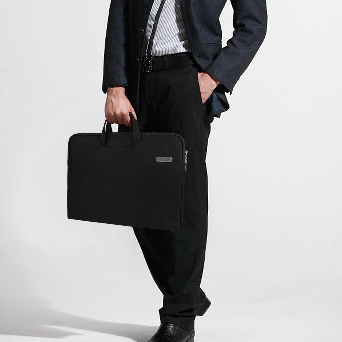 Arvok 15 15.6 Inch Multi-Color & Size Water-resistant Laptop Sleeve Bag with Handle/Notebook Computer Case/Ultrabook Briefcase Carrying Bag, Black by ARVOK (Image #1)