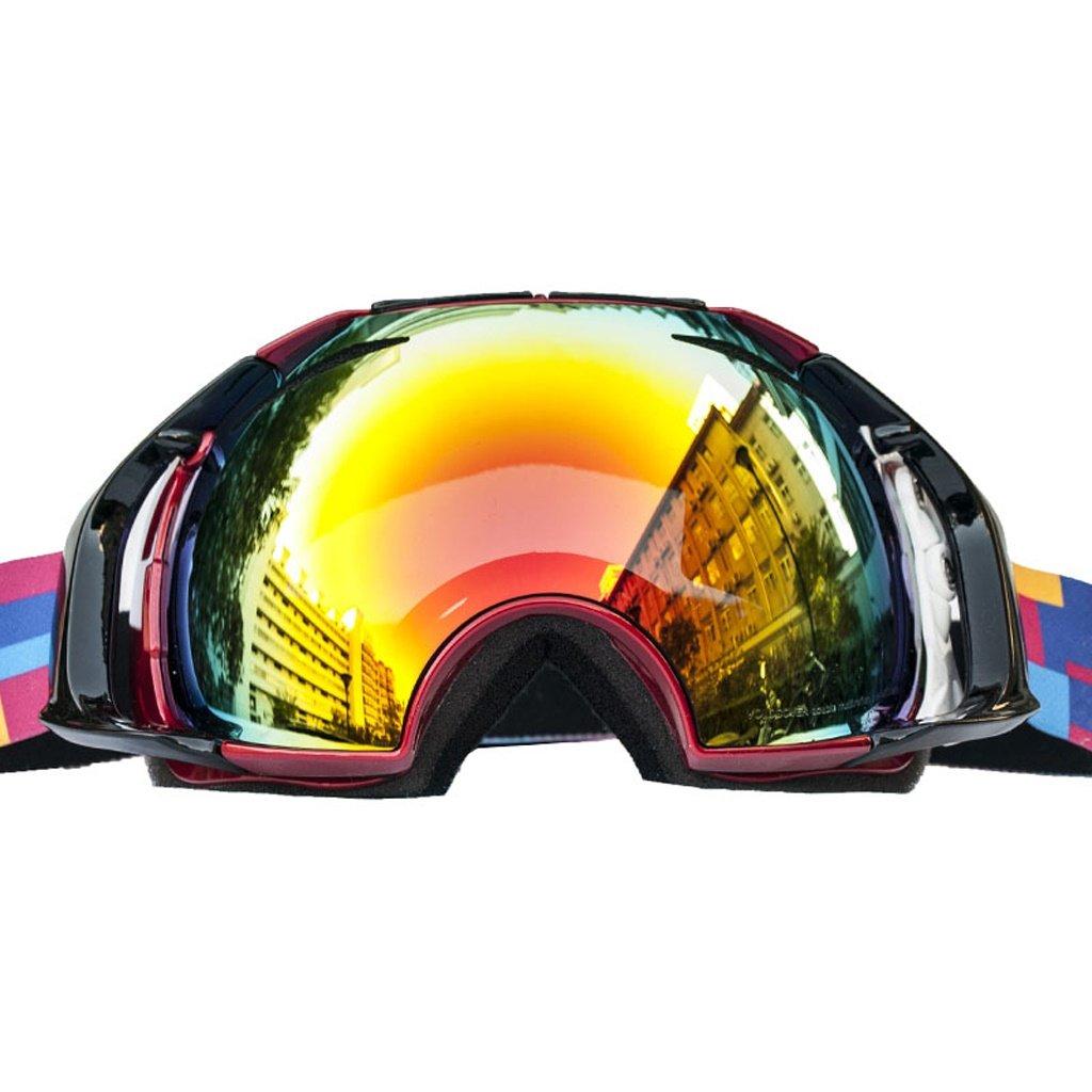 スキー用のゴーグル スキーゴーグル - TPU/PC、二重防曇、可変、大口径レンズは、男性と女性のための近視、ユニバーサルアウトドアスキー、登山アンチショックゴーグルに持ち込むことができます (色 : オレンジ frame) オレンジ frame