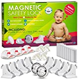 Invisible Magnetic No Drill Safety Lock: Parents - Keep Your Baby Safe! Secure Kitchen & Bedroom Cabinets & Furniture With 8 Child Proof Door & Drawer Locks for Kids.2 Keys & 3M Adhesive Straps