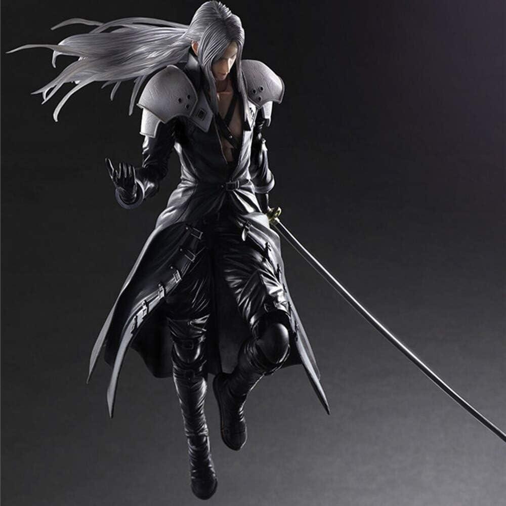 XUEKUN Final Fantasy VII Sephiroth Action-Figur-28cm-Sephiroth Statue Dekoration Anime-Charakter Modell Kind-Puppe-Spielzeug Souvenir-Sammlung Geschenk F/ür Geliebte Sephiroth