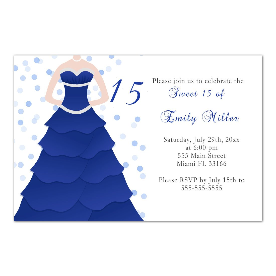 Amazon 50 Invitations Sweet 16 15 Quinceanera Birthday Party