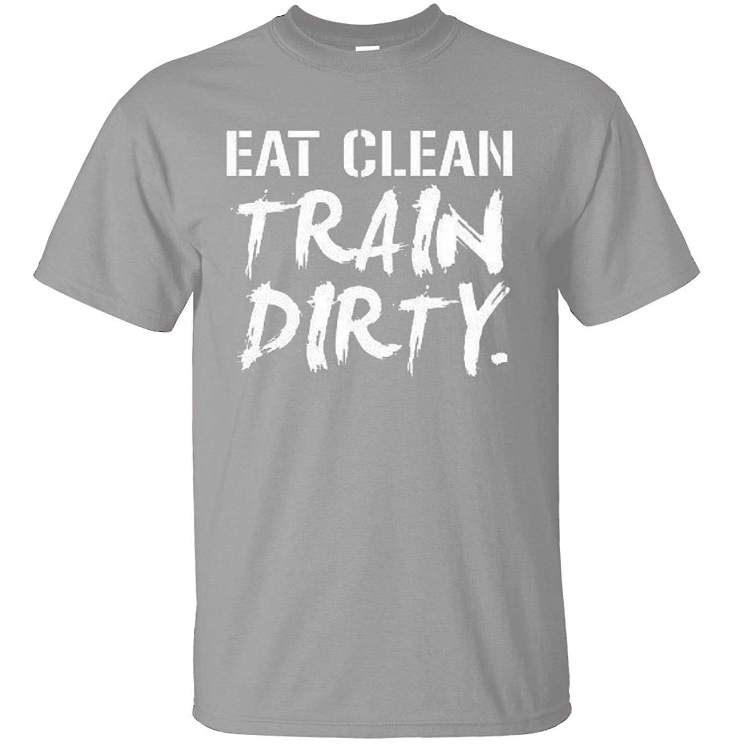 Adult Eat Clean Train Dirty Novelty Gym T Shirt
