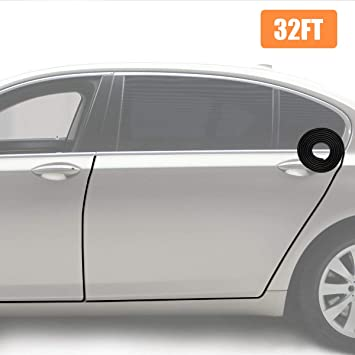 Car Door Edge Protector Strip 10m Door Protection Black Grey Doorguard