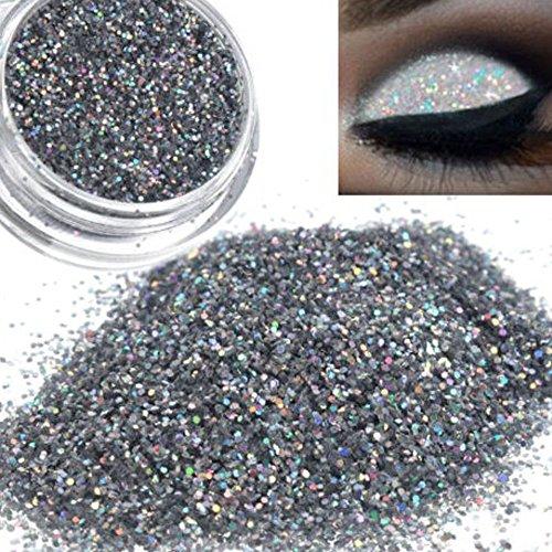 Shimmer Eyeshadow Powder,Fenleo Sparkly Makeup Glitter Loose Powder EyeShadow Silver Eye Shadow Pigment Shimmer